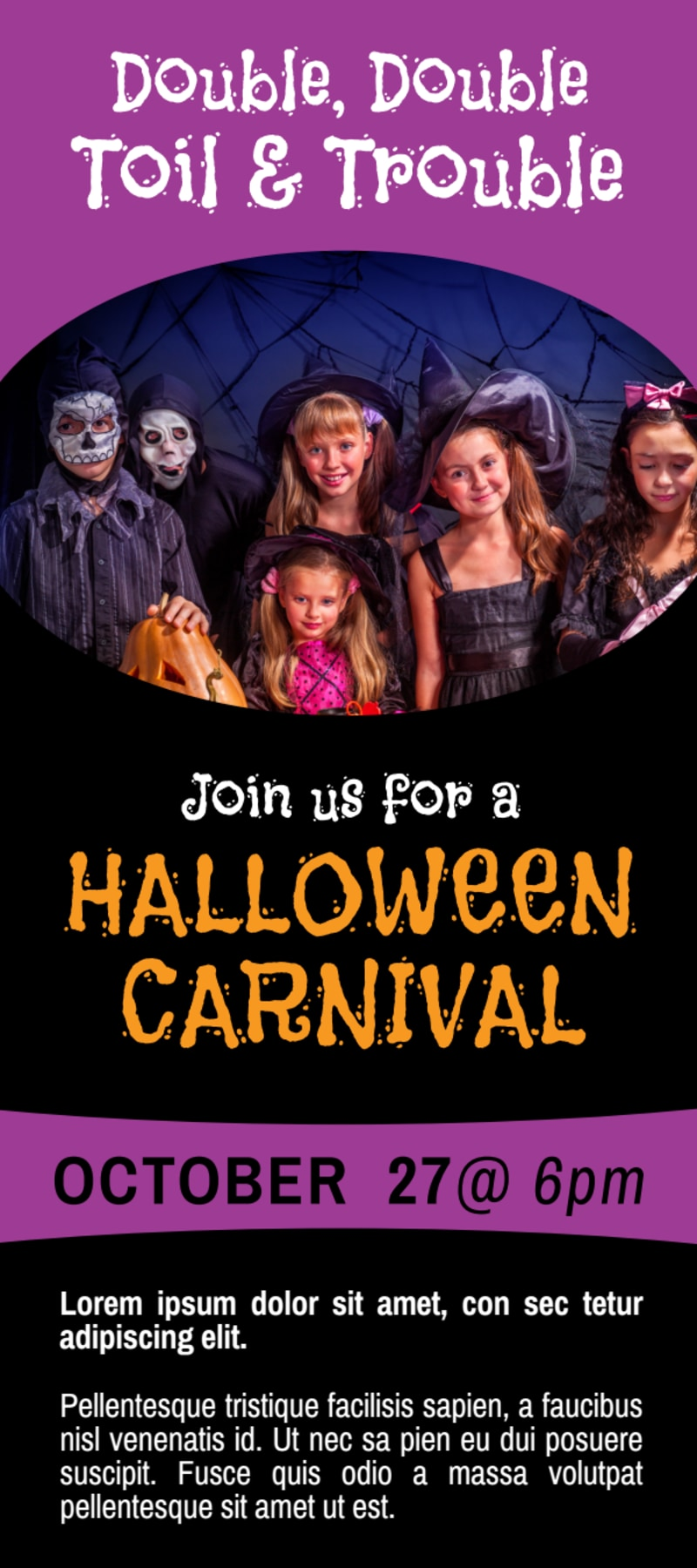 Awesome Halloween Carnival Flyer Template Preview 2