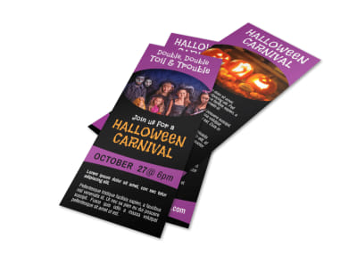 Awesome Halloween Carnival Flyer Template preview