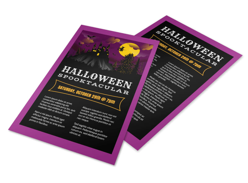 Halloween Spooktacular Flyer Template