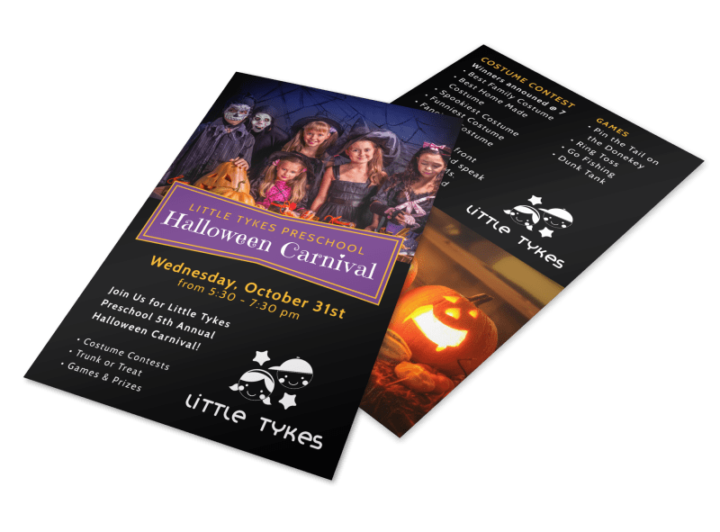 Halloween Carnival Flyer Template Preview 1