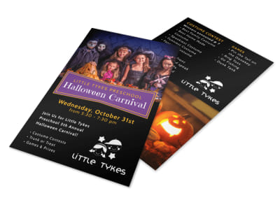 Halloween Carnival Flyer Template preview