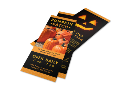 Halloween Pumpkin Patch Flyer Template preview