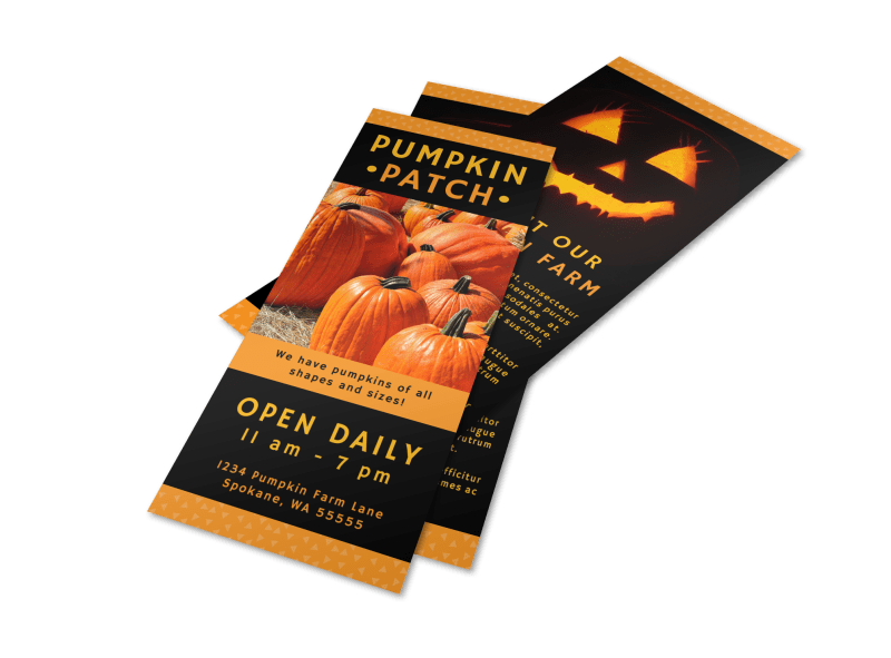 Halloween Pumpkin Patch Flyer Template