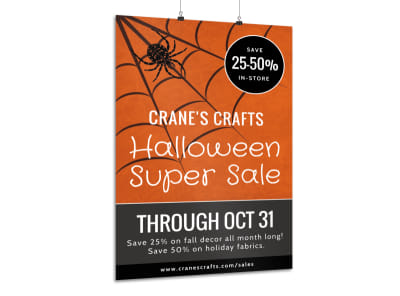 Halloween Sale Poster Template preview