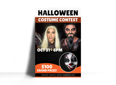 Halloween Costume Contest Poster Template preview