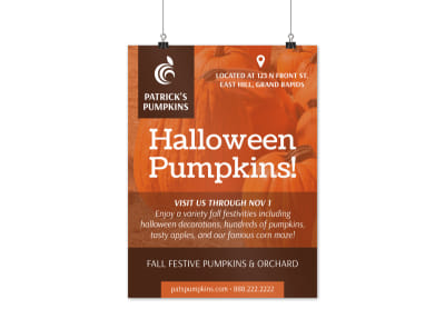 Halloween Pumpkins Poster Template preview
