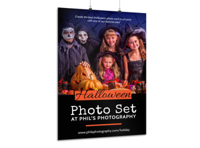 Halloween Photo Set Poster Template preview