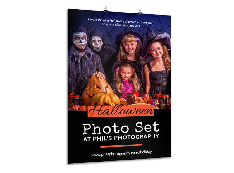 Halloween Photo Set Poster Template