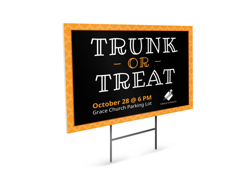 Halloween Trunk Or Treat Yard Sign Template