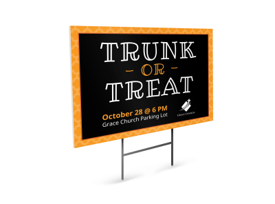 Halloween Yard Sign Templates Template Preview