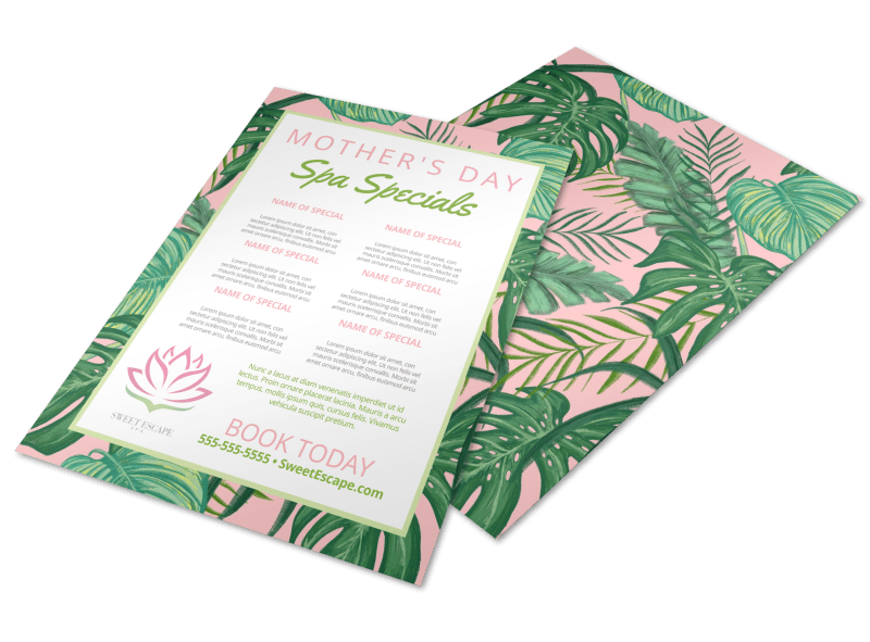 Mother's Day Spa Special Flyer Template