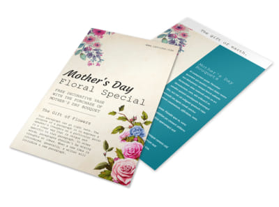 Beautiful Mother's Day Flyer Template preview