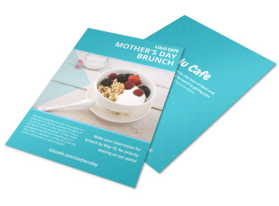 Mother's Day Meal Flyer Template preview