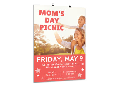Mother's Day Picnic Poster Template preview