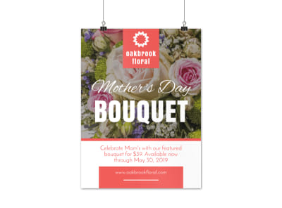 Mother's Day Bouquet Poster Template preview