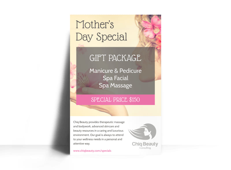 Mother's Day Spa Special Poster Template