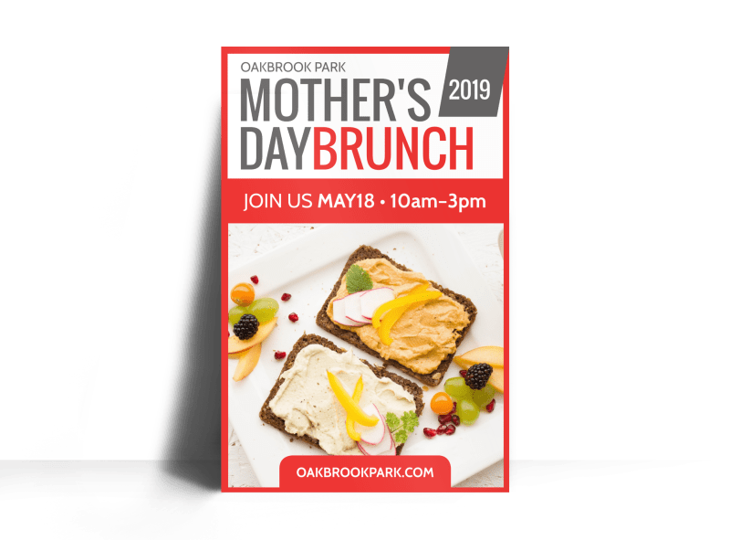 Mother's Day Brunch Poster Template Preview 1