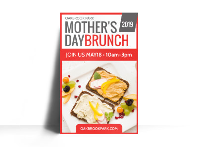 Mothers Day Brunch Poster Template preview