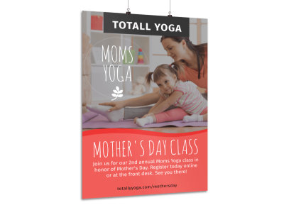 Mother's Day Yoga Poster Template preview