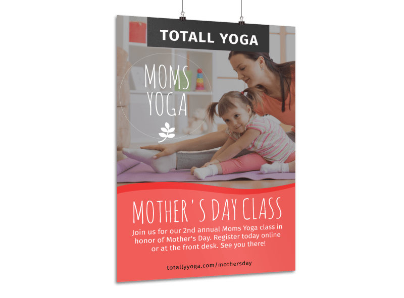 Mother's Day Yoga Poster Template Preview 1