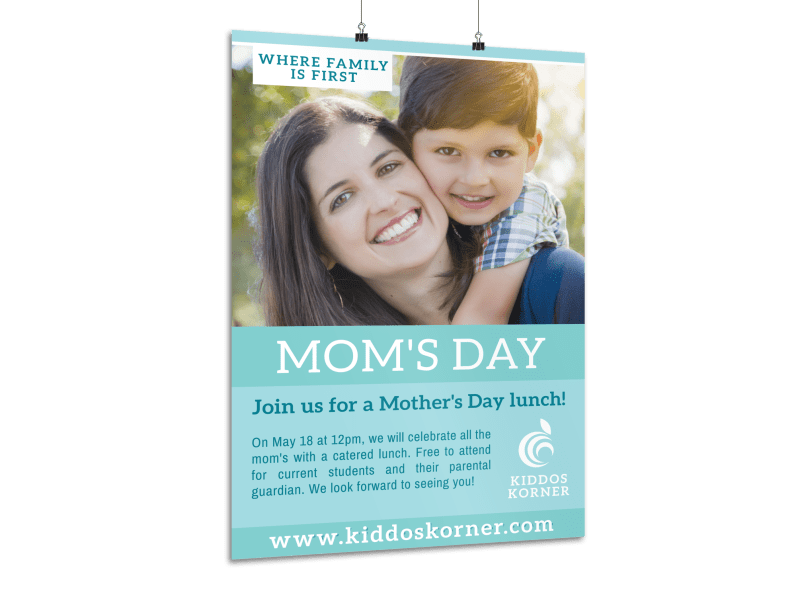 Mother's Day Lunch Poster Template Preview 1