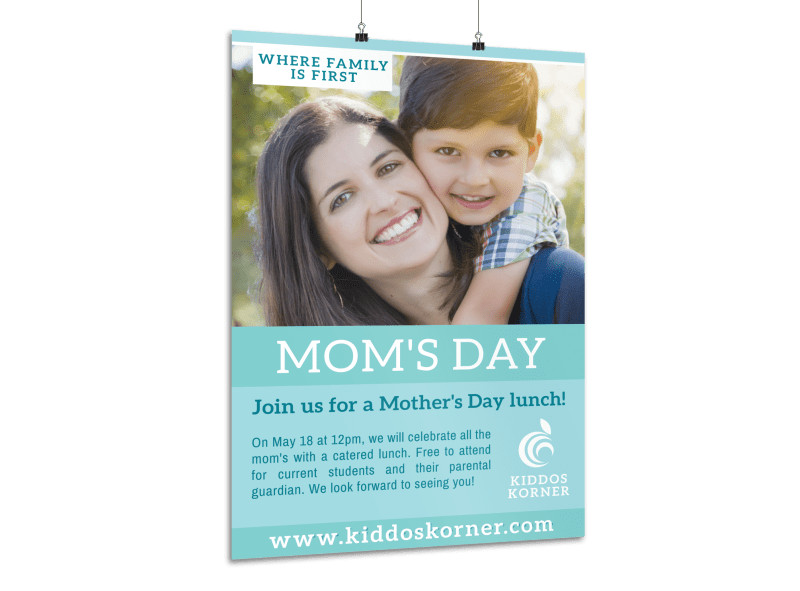 Mother's Day Lunch Poster Template Preview 3