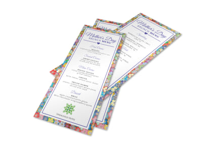 Colorful Mothers Day Menu Template preview