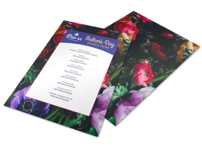 Mother's Day Brunch Menu Template preview