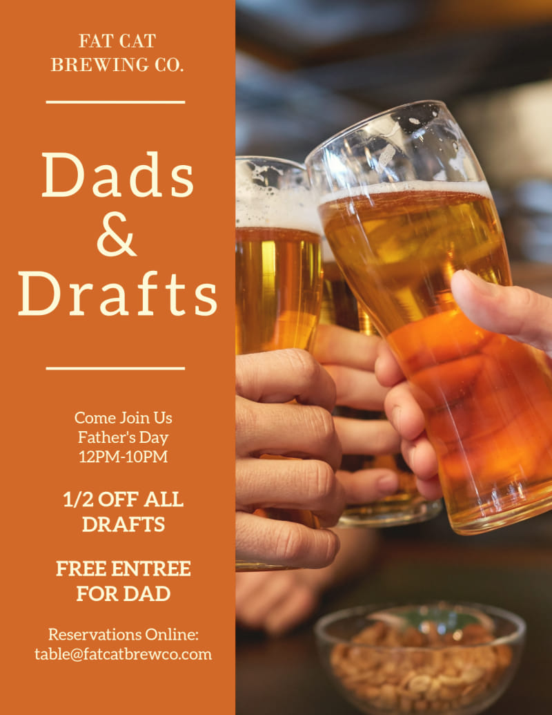 Dads & Drafts Flyer Template Preview 2