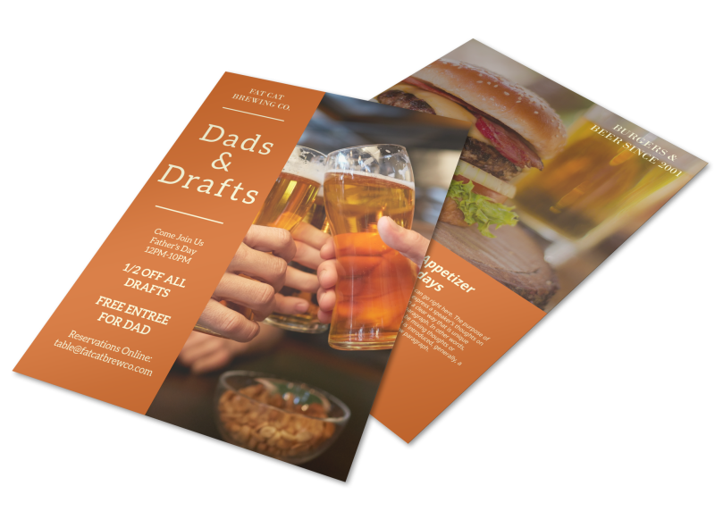 Dads & Drafts Flyer Template Preview 1