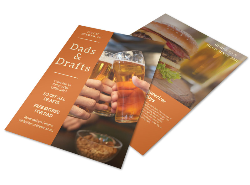 Dads & Drafts Flyer Template Preview 4