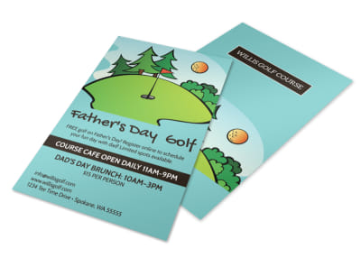 Father's Day Golf Flyer Template preview