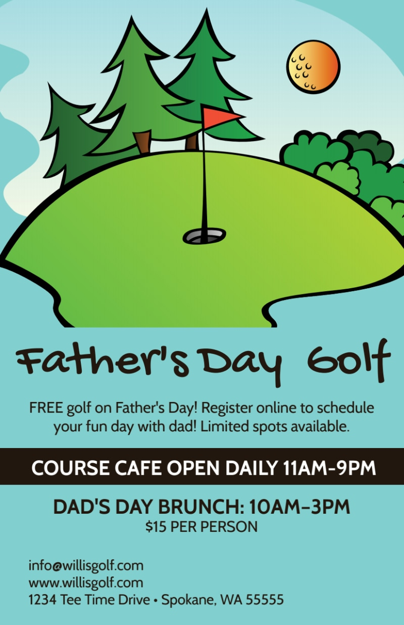 Father's Day Golf Flyer Template Preview 2