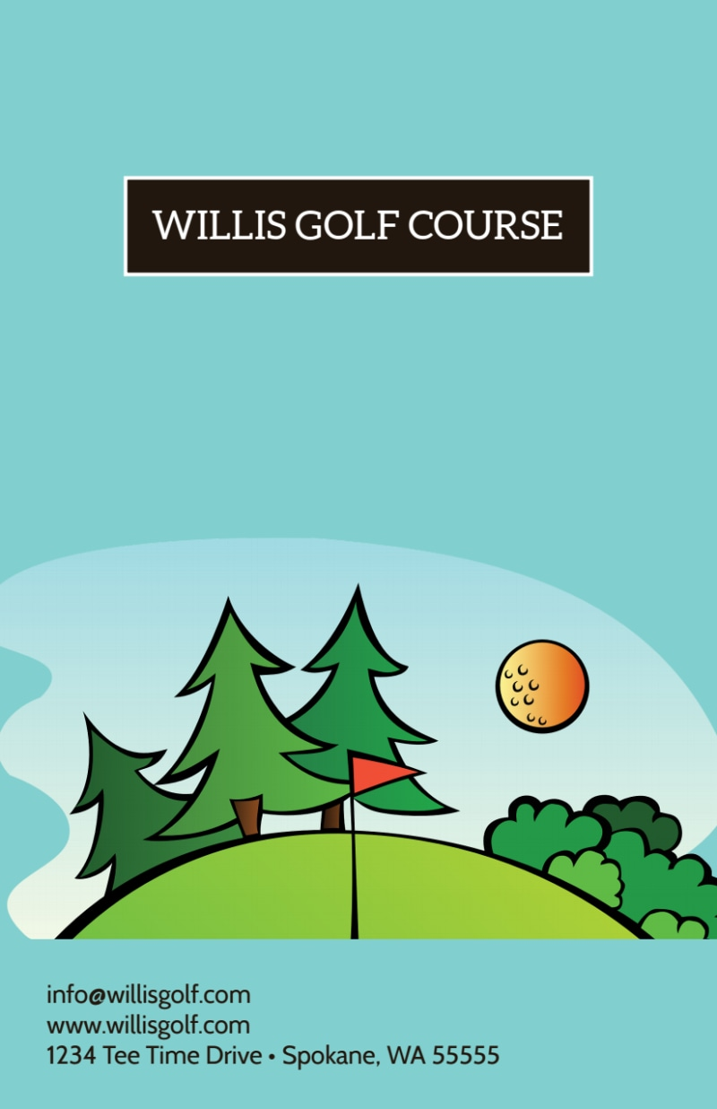 Father's Day Golf Flyer Template Preview 3