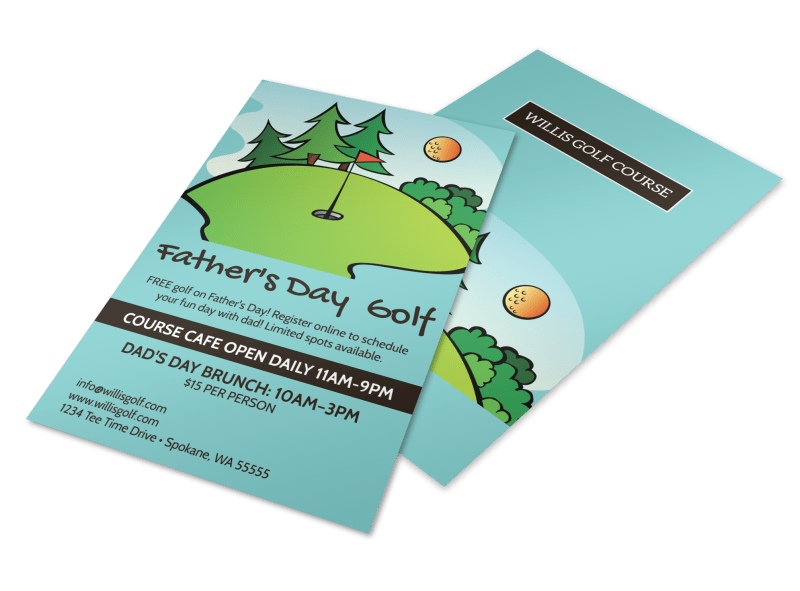 Father's Day Golf Flyer Template Preview 1