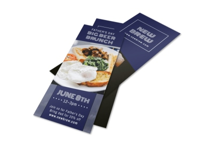 Father's Day Beer Brunch Flyer Template preview