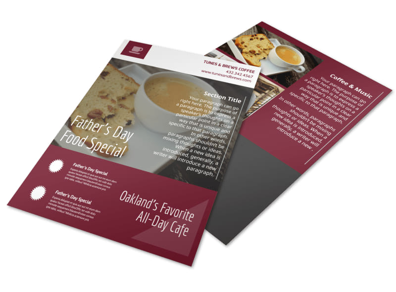 Father's Day Food Flyer Template Preview 4