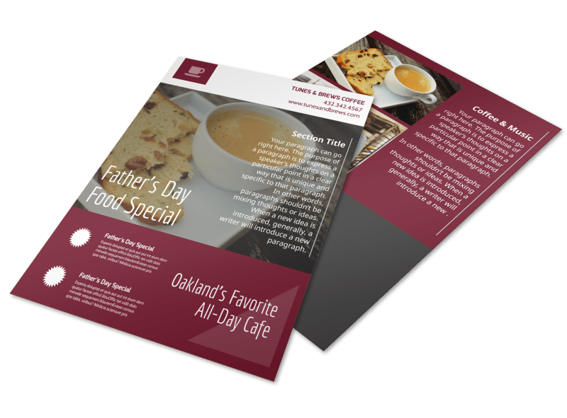 Father's Day Food Flyer Template Preview 1
