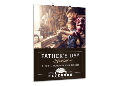 Father's Day Woodworking Poster Template preview