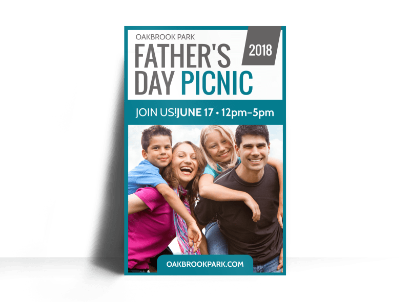 Father's Day Picnic Poster Template Preview 1