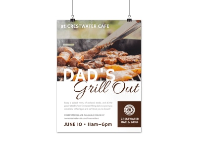 Father's Day Grill Out Poster Template preview