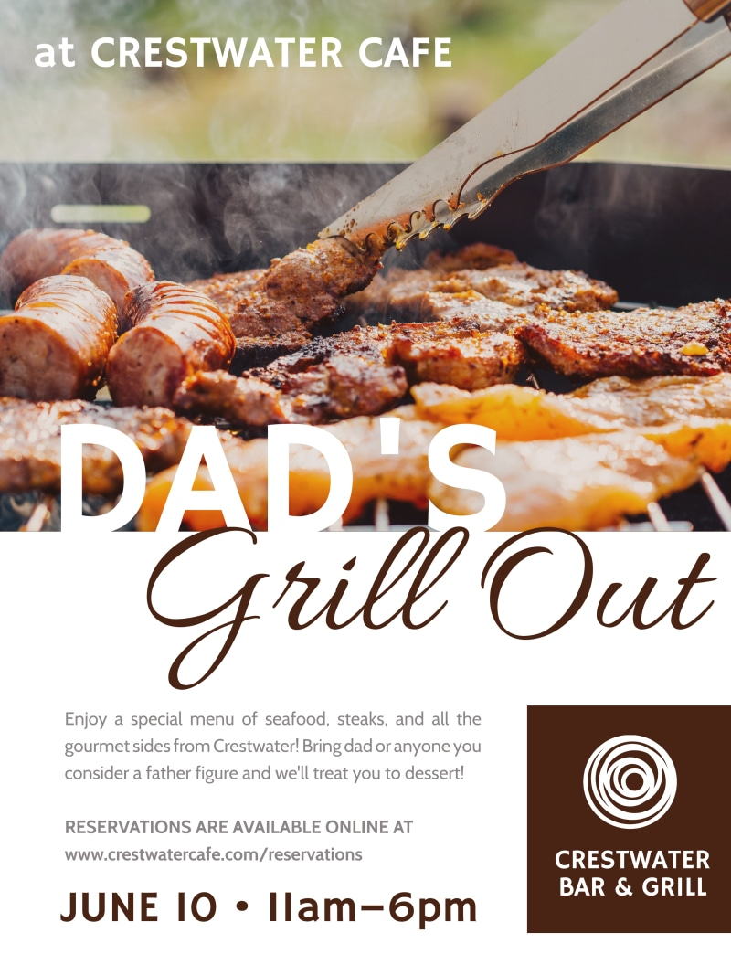 Father's Day Grill Out Poster Template Preview 2