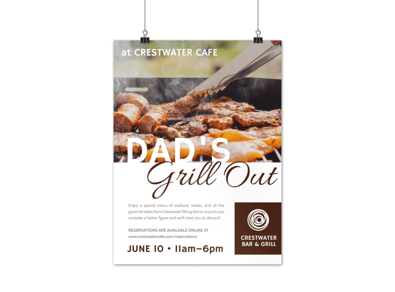 Father's Day Grill Out Poster Template Preview 1