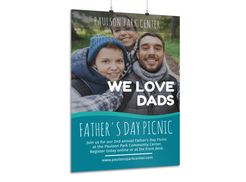 We Love Father's Day Poster Template
