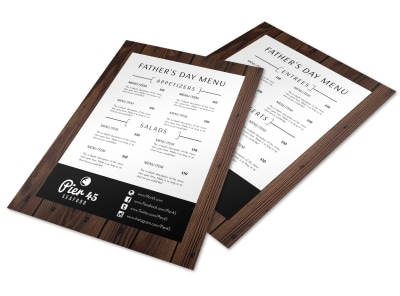 Restaurant Father's Day Menu Template preview