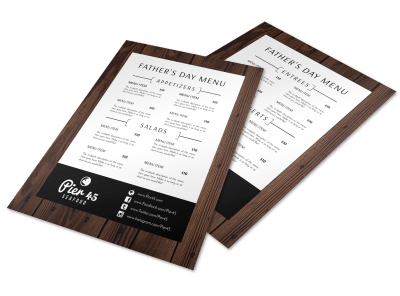 Father's Day Menu Templates Template Preview