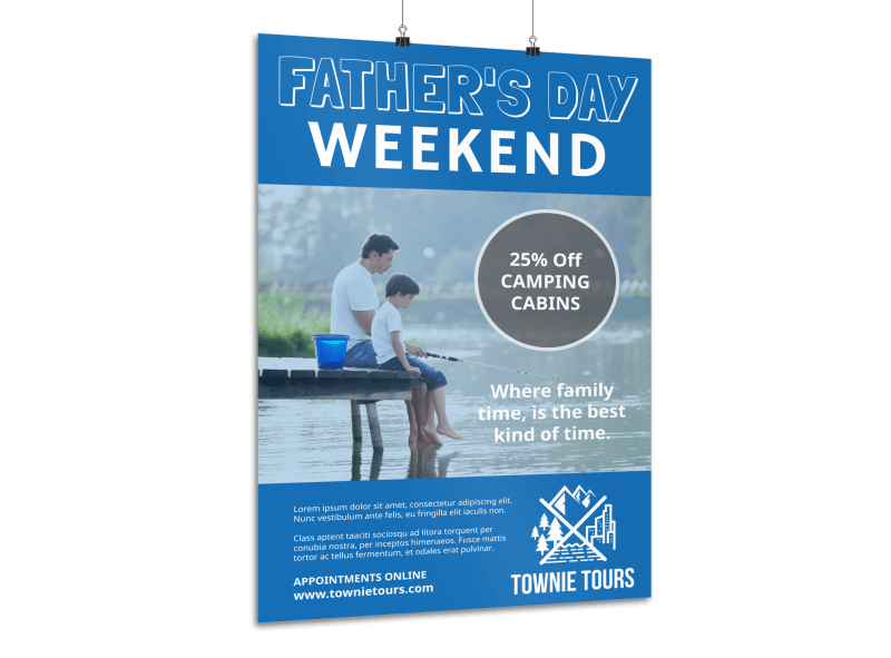 Blue Father's Day Poster Template Preview 1