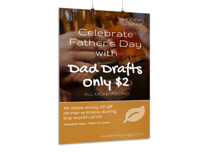 Father's Day Posters Template Preview