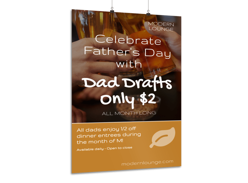 Celebrate Father's Day Poster Template Preview 1