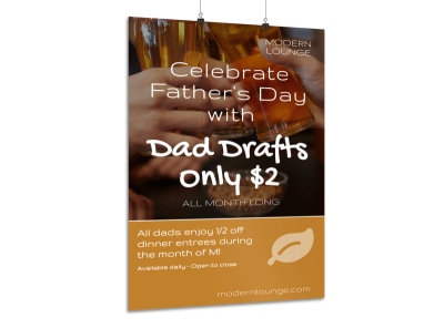 Celebrate Father's Day Poster Template preview